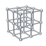 Cube model. Isolated on white. 3d rendered illustration Royalty Free Stock Image