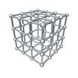Cube model Royalty Free Stock Image
