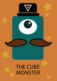 The cube monster. With hat Stock Photo
