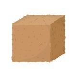 Cube moulu d'isolement Photo stock