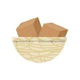 Cube moulu d'isolement Image stock