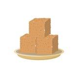 Cube moulu d'isolement Photo libre de droits