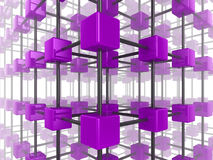 Cube network Stock Photo