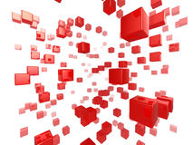 Cube network Stock Photography