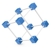 The cube network Stock Photography