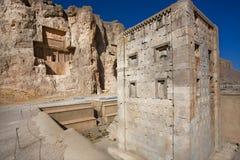 Cube o cubo dado forma de Zoroaster construiu em Irã no século V BC Foto de Stock