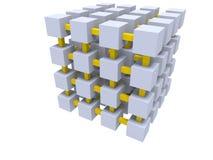 Cube o engranzamento Fotografia de Stock Royalty Free