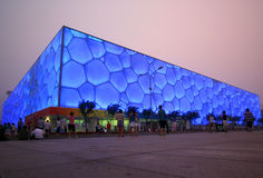 The Cube, Olympic National Park, Beijing. A View of the Cube, Olympic National Park, Beijing, China. Housed all the water sports events Stock Image