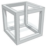 Cube optical illusion royalty free illustration