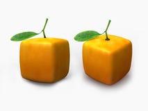 Cube orange. New idea of  cube shape of orange Stock Photo