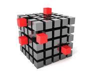 Cube organization Royalty Free Stock Images