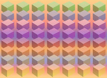 Cube Pastel. Pastel colored Cubes arranged in rows on an analogous background Royalty Free Stock Photo