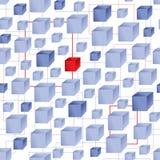 Cube pattern Stock Image