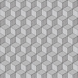Cube pattern. Black and white cube pattern Stock Image