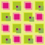 Cube pattern. In colour pink green yellow - vector Royalty Free Stock Photo