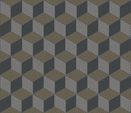 Cube pattern of dots Royalty Free Stock Photo