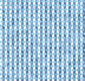Cube pattern. Vector seamless geometric background. With blue, gray and white shapes Stock Image