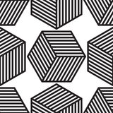 Cube pattern vector Royalty Free Stock Image