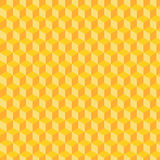 Cube Pattern. Yellow, Orange Cube Pattern Tessellation Stock Photo