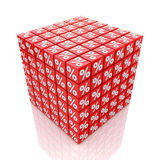 Cube percent stock photo