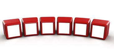 Cube photo frame gallery concept Royalty Free Stock Image