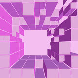 Cube pink shaded frame composition  Stock Photo