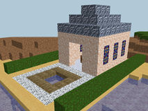 Cube pixel church world Stock Images