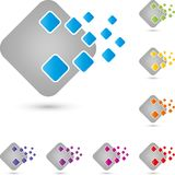 Cube and Pixel, It Services and Data Logo, Icon, Button royalty free illustration
