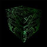 Cube placas dos circuitos da cópia ilustração royalty free