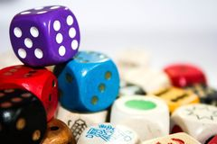 Cube, Play, Colorful, Eye Numbers Stock Images