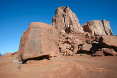Cube point in Monument Valley, Utah Royalty Free Stock Images