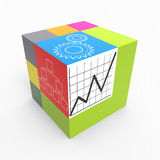 Cube process Royalty Free Stock Photo