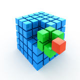 Cube puzzle Stock Photo