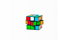 Cube Puzzle. Rubik's Cube with clipping path Stock Photos