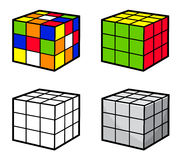 Cube Puzzle. Vector Illustrations of Cube Puzzle. Best for Puzzles, Mind Games, Recreation Concept Royalty Free Illustration