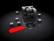 Cube puzzle building Stock Photo