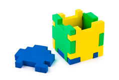 Cube puzzle Royalty Free Stock Image