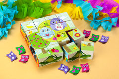 Cube puzzle for kids Royalty Free Stock Photo