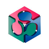 Cube Puzzle Stock Image