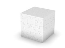 Cube of puzzles Royalty Free Stock Photos