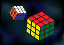 Cube puzzles. Abstract background with cube puzzles Stock Images
