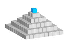 Cube pyramid Stock Images