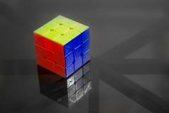 Cube résolu en Rubics Photographie stock