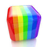 Cube in rainbow colors. When you make information relating to the color and abstraction Stock Photography
