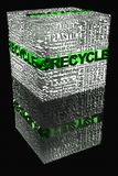 Cube with Recycle words related Royalty Free Stock Photo
