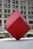 Cube rouge Images libres de droits