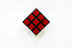 Cube rouge Image stock