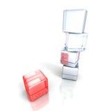 Cube rouge différent de la pile blanche de tour Concept d'affaires Image libre de droits