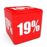 cube rouge en vente 3d remise de 19 pour cent illustration de vecteur