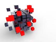 Cube rouge ensemble Image libre de droits